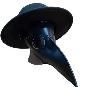 NEW Black Leather Dr. Plague Mask Raven Crow